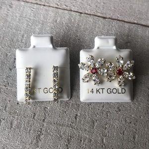 Jewelry - 💞✨14k Gold Flower Earrings ❤️